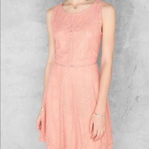 Tabitha Lace Dress in Coral - Size S